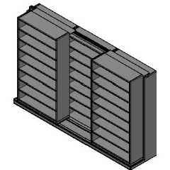 "Legal Size Sliding Shelves - 2 Rows Deep - 8 Levels - (48"" x 15"" Shelves) - 148"" Total Width"