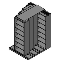 "Box Size Sliding Shelves - 4 Rows Deep - 7 Levels - (30"" x 16"" Shelves) - 64"" Total Width"