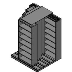 "Letter Size Sliding Shelves - 4 Rows Deep - 7 Levels - (30"" x 12"" Shelves) - 64"" Total Width"