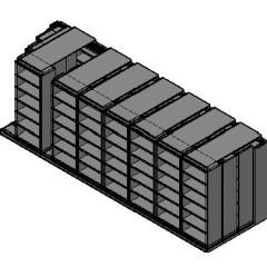 "Box Size Sliding Shelves - 4 Rows Deep - 6 Levels - (30"" x 16"" Shelves) - 244"" Total Width"