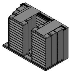 "Bin Size Sliding Shelves - 4 Rows Deep - 12 Levels - (42"" x 15"" Shelves) - 130"" Total Width"