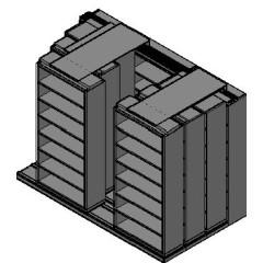 "Box Size Sliding Shelves - 4 Rows Deep - 7 Levels - (42"" x 16"" Shelves) - 130"" Total Width"
