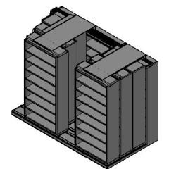 "Legal Size Sliding Shelves - 4 Rows Deep - 8 Levels - (42"" x 15"" Shelves) - 130"" Total Width"
