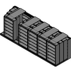 "Box Size Sliding Shelves - 4 Rows Deep - 6 Levels - (42"" x 16"" Shelves) - 256"" Total Width"