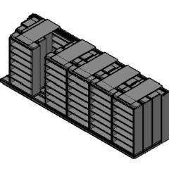 "Legal Size Sliding Shelves - 4 Rows Deep - 7 Levels - (42"" x 15"" Shelves) - 256"" Total Width"