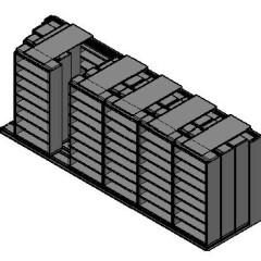 "Legal Size Sliding Shelves - 4 Rows Deep - 8 Levels - (42"" x 15"" Shelves) - 256"" Total Width"
