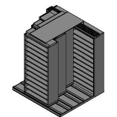"Bin Size Sliding Shelves - 4 Rows Deep - 12 Levels - (36"" x 15"" Shelves) - 76"" Total Width"