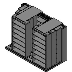 "Letter Size Sliding Shelves - 4 Rows Deep - 7 Levels - (36"" x 12"" Shelves) - 112"" Total Width"