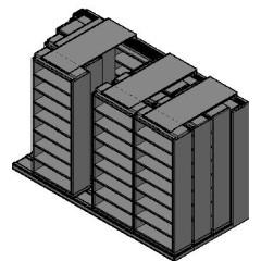"Legal Size Sliding Shelves - 4 Rows Deep - 8 Levels - (36"" x 15"" Shelves) - 148"" Total Width"
