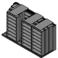 "Letter Size Sliding Shelves - 4 Rows Deep - 7 Levels - (36"" x 12"" Shelves) - 148"" Total Width"