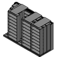 "Letter Size Sliding Shelves - 4 Rows Deep - 8 Levels - (36"" x 12"" Shelves) - 148"" Total Width"