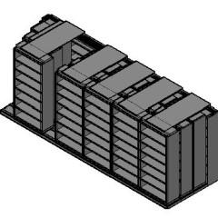 "Legal Size Sliding Shelves - 4 Rows Deep - 7 Levels - (36"" x 15"" Shelves) - 220"" Total Width"