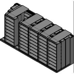 "Legal Size Sliding Shelves - 4 Rows Deep - 8 Levels - (36"" x 15"" Shelves) - 220"" Total Width"