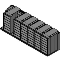 "Legal Size Sliding Shelves - 4 Rows Deep - 7 Levels - (36"" x 15"" Shelves) - 256"" Total Width"