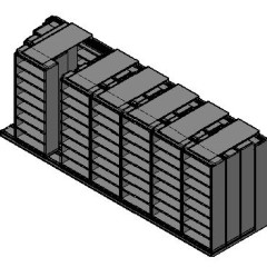 "Legal Size Sliding Shelves - 4 Rows Deep - 8 Levels - (36"" x 15"" Shelves) - 256"" Total Width"