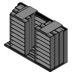 "Letter Size Sliding Shelves - 4 Rows Deep - 8 Levels - (48"" x 12"" Shelves) - 148"" Total Width"