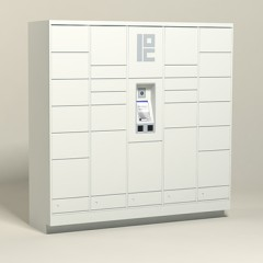 100 Unit - 30 Total Openings - Steel Smart Locker