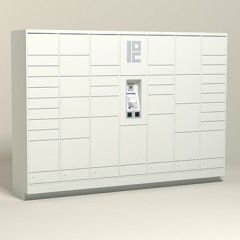 125 Unit - 44 Total Openings - Steel Smart Locker