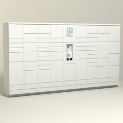 200 Unit - 56 Total Openings - Steel Smart Locker