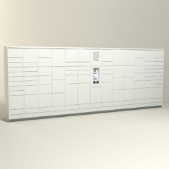 275 Unit - 80 Total Openings - Steel Smart Locker