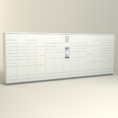 300 Unit - 86 Total Openings - Steel Smart Locker
