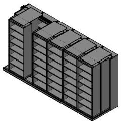 "Box Size Sliding Shelves - 3 Rows Deep - 7 Levels - (30"" x 16"" Shelves) - 184"" Total Width"