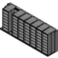 "Box Size Sliding Shelves - 3 Rows Deep - 7 Levels - (30"" x 16"" Shelves) - 244"" Total Width"