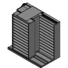 "Bin Size Sliding Shelves - 3 Rows Deep - 12 Levels - (42"" x 15"" Shelves) - 88"" Total Width"