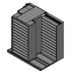 "Bin Size Sliding Shelves - 3 Rows Deep - 12 Levels - (42"" x 18"" Shelves) - 88"" Total Width"