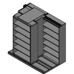 "Box Size Sliding Shelves - 3 Rows Deep - 6 Levels - (42"" x 16"" Shelves) - 88"" Total Width"