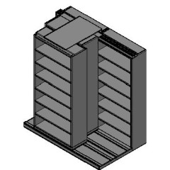 "Box Size Sliding Shelves - 3 Rows Deep - 7 Levels - (42"" x 16"" Shelves) - 88"" Total Width"