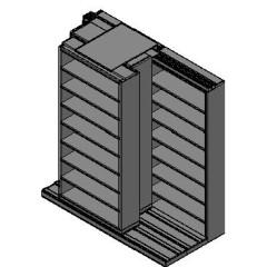 "Letter Size Sliding Shelves - 3 Rows Deep - 8 Levels - (42"" x 12"" Shelves) - 88"" Total Width"