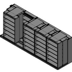 "Box Size Sliding Shelves - 3 Rows Deep - 6 Levels - (42"" x 16"" Shelves) - 214"" Total Width"