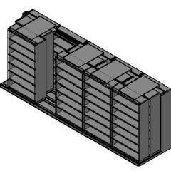 "Legal Size Sliding Shelves - 3 Rows Deep - 7 Levels - (42"" x 15"" Shelves) - 214"" Total Width"