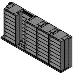 "Letter Size Sliding Shelves - 3 Rows Deep - 8 Levels - (42"" x 12"" Shelves) - 214"" Total Width"