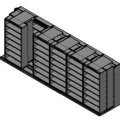 "Box Size Sliding Shelves - 3 Rows Deep - 7 Levels - (42"" x 16"" Shelves) - 256"" Total Width"