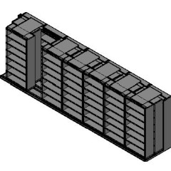 "Box Size Sliding Shelves - 3 Rows Deep - 7 Levels - (42"" x 16"" Shelves) - 298"" Total Width"