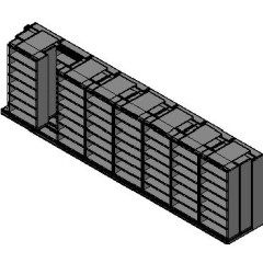 "Box Size Sliding Shelves - 3 Rows Deep - 7 Levels - (42"" x 16"" Shelves) - 340"" Total Width"