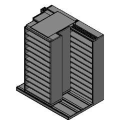 "Bin Size Sliding Shelves - 3 Rows Deep - 12 Levels - (36"" x 15"" Shelves) - 76"" Total Width"