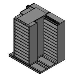 "Bin Size Sliding Shelves - 3 Rows Deep - 12 Levels - (36"" x 18"" Shelves) - 76"" Total Width"