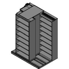 "Legal Size Sliding Shelves - 3 Rows Deep - 8 Levels - (36"" x 15"" Shelves) - 76"" Total Width"