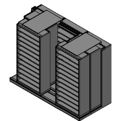 "Bin Size Sliding Shelves - 3 Rows Deep - 12 Levels - (36"" x 15"" Shelves) - 112"" Total Width"