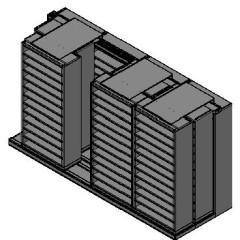 "Bin Size Sliding Shelves - 3 Rows Deep - 12 Levels - (36"" x 15"" Shelves) - 148"" Total Width"