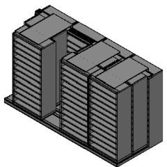 "Bin Size Sliding Shelves - 3 Rows Deep - 12 Levels - (36"" x 18"" Shelves) - 148"" Total Width"