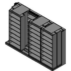 "Letter Size Sliding Shelves - 3 Rows Deep - 8 Levels - (36"" x 12"" Shelves) - 148"" Total Width"
