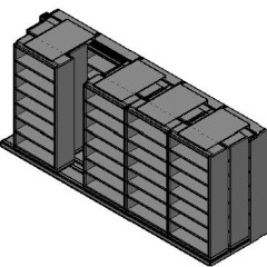 "Legal Size Sliding Shelves - 3 Rows Deep - 7 Levels - (36"" x 15"" Shelves) - 184"" Total Width"