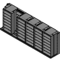 "Letter Size Sliding Shelves - 3 Rows Deep - 7 Levels - (36"" x 12"" Shelves) - 220"" Total Width"