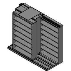 "Letter Size Sliding Shelves - 3 Rows Deep - 7 Levels - (48"" x 12"" Shelves) - 100"" Total Width"