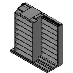 "Letter Size Sliding Shelves - 3 Rows Deep - 8 Levels - (48"" x 12"" Shelves) - 100"" Total Width"