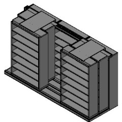 "Legal Size Sliding Shelves - 3 Rows Deep - 7 Levels - (48"" x 15"" Shelves) - 148"" Total Width"